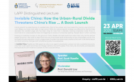 How the Urban-Rural Divide Threatens China's Rise … A Book Launch