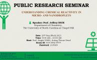 Public Research Seminar by Sustainable Energy and Environment Thrust  - Understanding Chemical Reactivity in Micro- and Nanodroplets