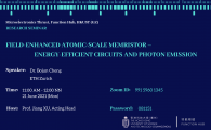 Public Research Seminar by Microelectronics Thrust  - Field-Enhanced Atomic-Scale Memristor--Energy-Efficient Circuits and Photon Emission