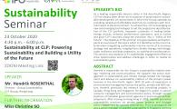 Powering Sustainability and Building a Utility of the Future""